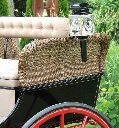 Antique cart wicker restoration